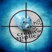 信贷目标 — 图库照片