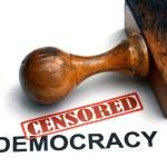 Censored democracy — Stock Photo #45431991