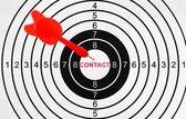 Contact target — Foto Stock
