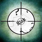 Risk target concept — Foto Stock