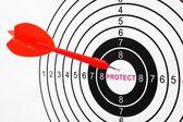Protect target — Stock Photo