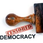 Censored democracy — Stock Photo #46343979