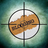 Blogga mål — Stockfoto