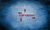 Copyright maze — Stock Photo