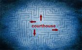 Courthouse maze concept — Stock Photo