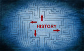 History maze concept — Stock Photo