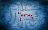 History maze concept — Stock fotografie