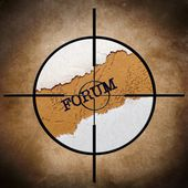 Forum target — Stock Photo