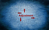 Adjustment maze concept — Stock Photo