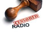 Censored radio — Zdjęcie stockowe