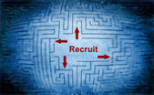 Recruit maze concept — Foto de Stock