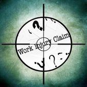 仕事の傷害の要求 — ストック写真