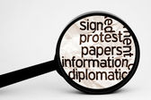 Protest information — Stock Photo