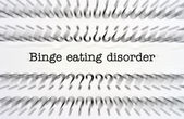Binge eating disorder — Stock Photo