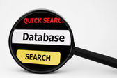 Search for dabase — Stock Photo