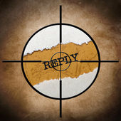 Reply target — Stock Photo