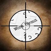 Work permit target — Stock Photo