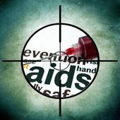 Aids target — Stock Photo