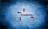 Creativity maze concept — Stock fotografie