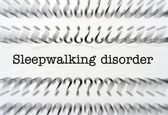 Sleepwalking disorder words — Stock Photo