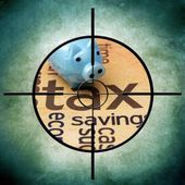 Tax target concept — Foto Stock