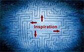 Inspiration maze concept — Stock fotografie