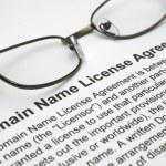 Domain name license agreement — Stock Photo #9399328