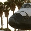 Stock Photo: Endeavor Shuttle & Airplane