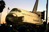 Shuttle Endeavor in Los Angeles — Stock Photo