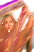Colorful Blur of Indian Sari — Stock Photo