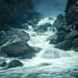 Stock Photo: Blue Monotone of Flowing Water