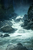 Blue Monotone of Flowing Water — Stock Photo