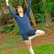 Stock Photo: Slanted YogTree Pose