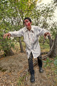 Zombie in the Woods — Stock Photo