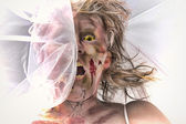 Veiled Zombie Bride — Stock Photo