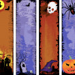 Royalty-Free Stock Imagen vectorial: Set of backgrounds Halloween