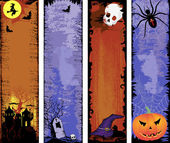 Set of backgrounds Halloween — Stock Vector