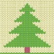 Knitted Christmas tree - Stock Vector