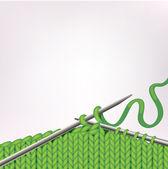 Pozadí s pletení編み物と背景 — Stock vektor