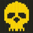 Knitted skeleton — Stockvectorbeeld