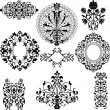 Set of decorative floral patterns - Stock Vector