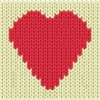 Knitted heart - Stock Vector