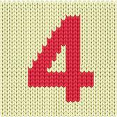 Silueta tkané čísla — Stock vektor