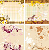 Set of backgrounds — Stock Vector