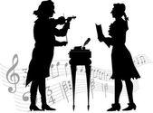 Muzyków klasycznych — Wektor stockowy