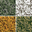 Set of camouflage seamless patterns - Stock Vector