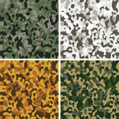Set of camouflage seamless patterns — Stock Vector