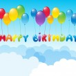 Happy Birthday with ballons — Stock Vector #18062147