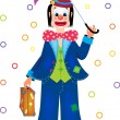 Clown with umbrella — Stock Vector #18234643