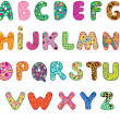 Cute alphabet - Stock Vector